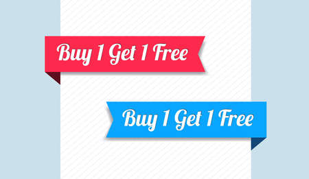 1: Buy 1 Get 1 Free Ribbons Illustration