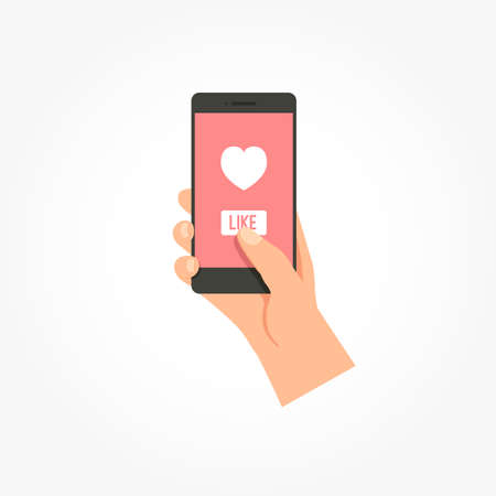 Telefoon Heart Like Icon Stock Illustratie