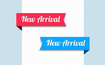 arrivals: New Arrival Ribbons Illustration