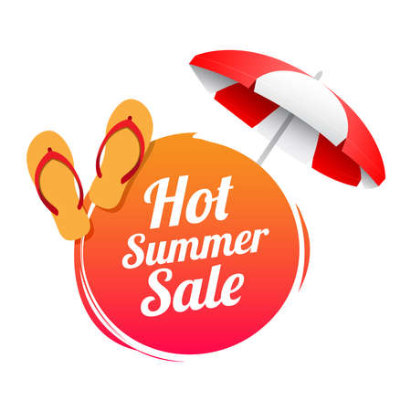 Hot Summer Sale Label