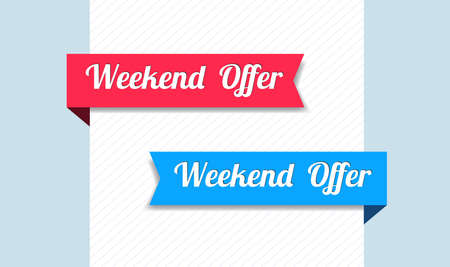 ribbons: Weekend Offer Ribbons
