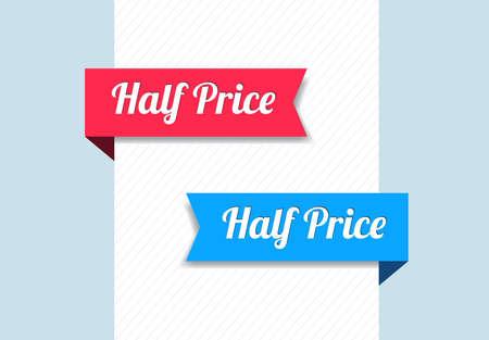 rebate: Half Price Ribbons Illustration