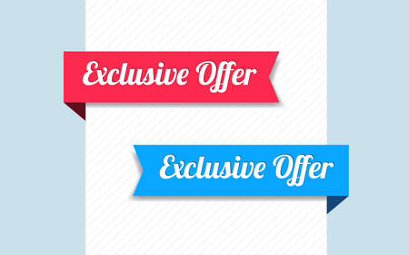 exclusive: Exclusive Offer Ribbons