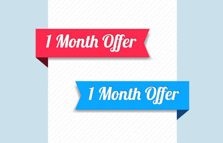 1: 1 Month Offer Ribbons