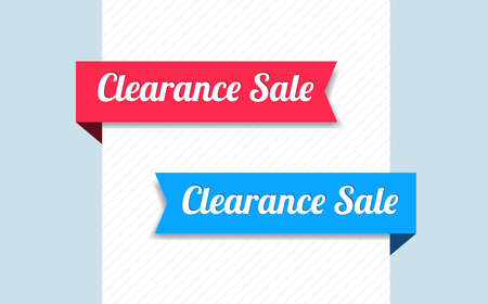clearance: Clearance Sale Ribbons Illustration
