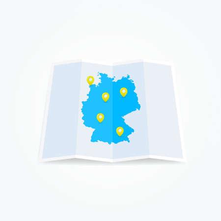 deutschland karte: Deutschland-Karte mit Pins