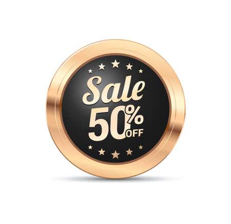 50  off: Sale 50% Off Badge Illustration