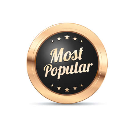 popular: Most Popular Badge Illustration