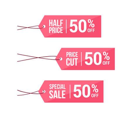 price cut: Half Price, Price Cut & Special Sale 50% Off Labels