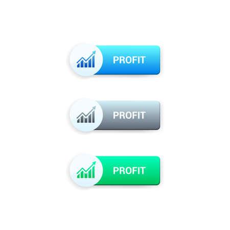 non stock: Profit Buttons Illustration