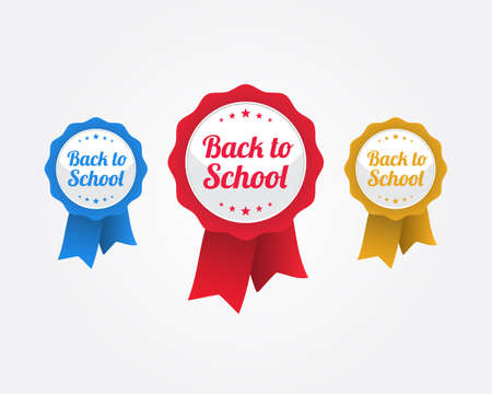 school: Back To School Ribbons Illustration