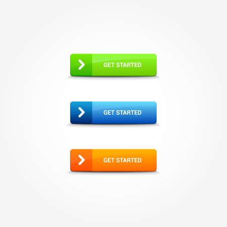 Commencer les boutons Web