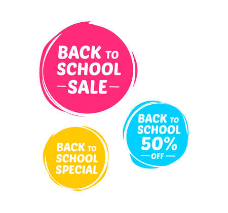 school: Back To School Labels Illustration