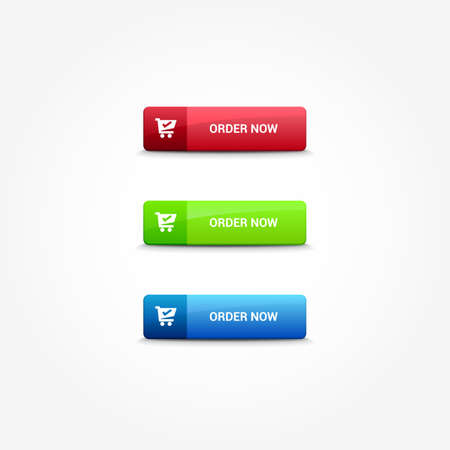 web buttons: Order Now Web Buttons
