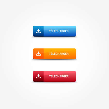 web: Download French Web Buttons Illustration