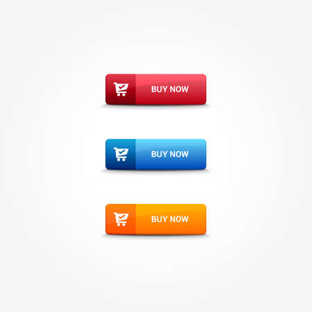 web buttons: Buy Now Web Buttons Illustration
