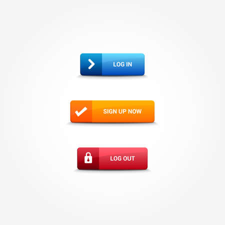 log out: Log In, Sign Up & Log Out Buttons