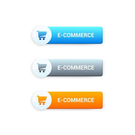 e commerce icon: E-Commerce Buttons Illustration