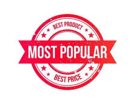 most popular: Most Popular Grunge Ribbon Stamp