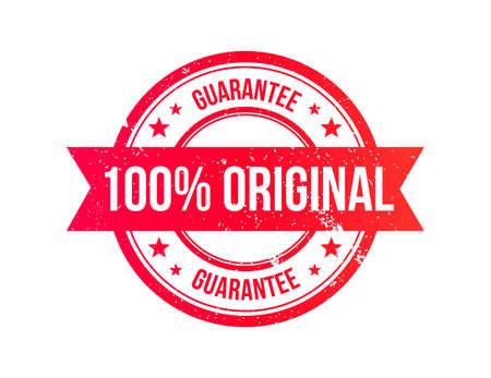 authentic: 100% Original Grunge Ribbon Stamp Illustration