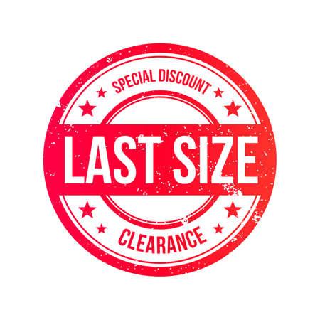 size: Last Size Grunge Ribbon Stamp