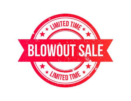 blowout: Blowout Sale Grunge Ribbon Stamp