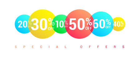 % Off Special Offer Round Labels