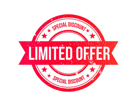 limited: Limited Offer Grunge Ribbon Stamp