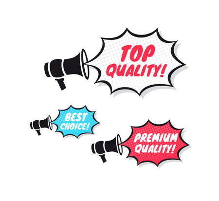 best quality: Top Quality, Best Choice & Premium Quality Megaphone Icons