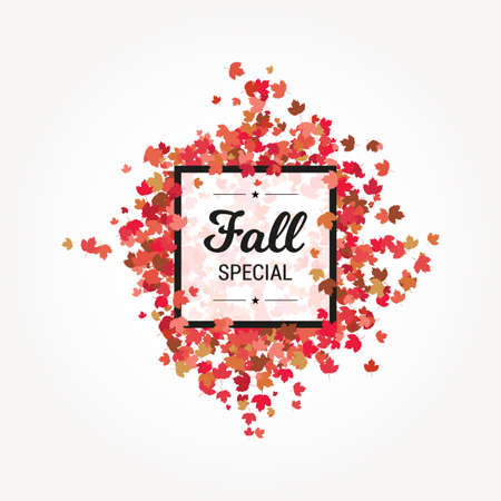 foliage: Fall Special Banner Foliage Background Illustration