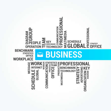 business word: Business Word Cloud Banner