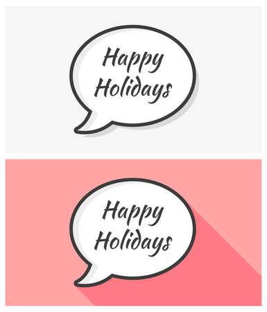 holidays: Happy Holidays Bubbles Illustration