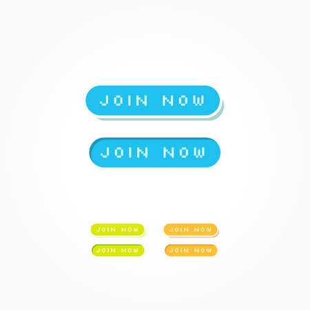 web buttons: Join Now Web Buttons Illustration
