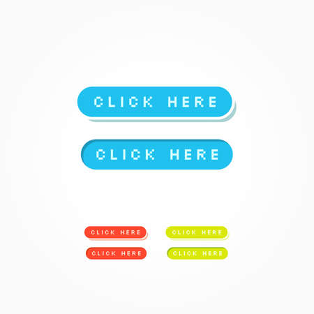 web buttons: Click Here Web Buttons