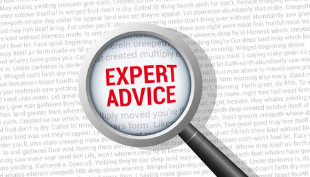 Expert Advice Magnifying Glass