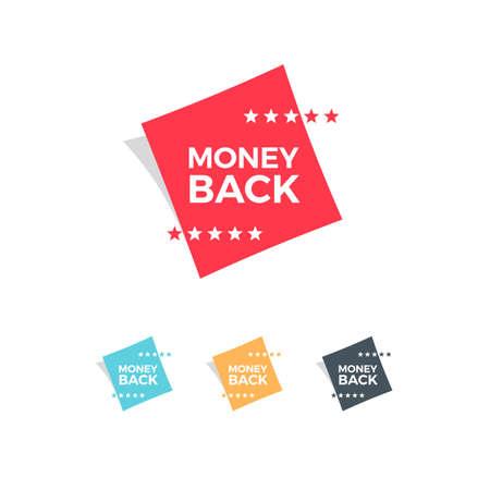 money: Money Back Labels Illustration