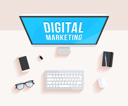 digital marketing: Digital Marketing Desktop Computer