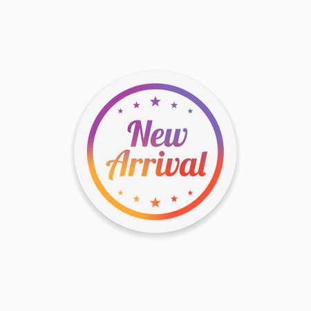 Neue Ankunfts-Etikett