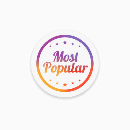 most popular: Most Popular Label