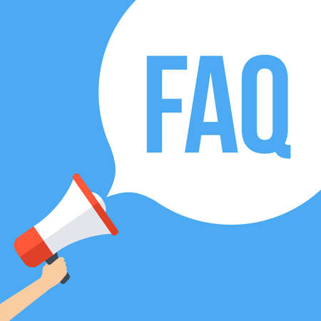 Frequently Asked Questions FAQ Megaphone Banner
