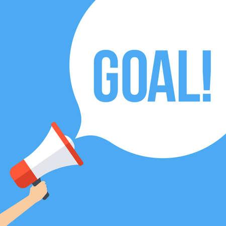 smart goals: Goal Megaphone Banner