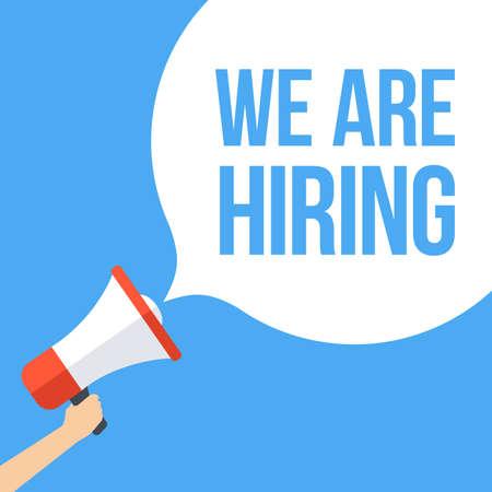 now hiring: We Are Hiring Megaphone Banner