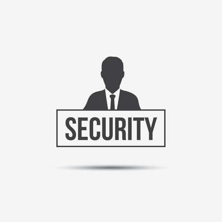 Businessman & Security Label Çizim