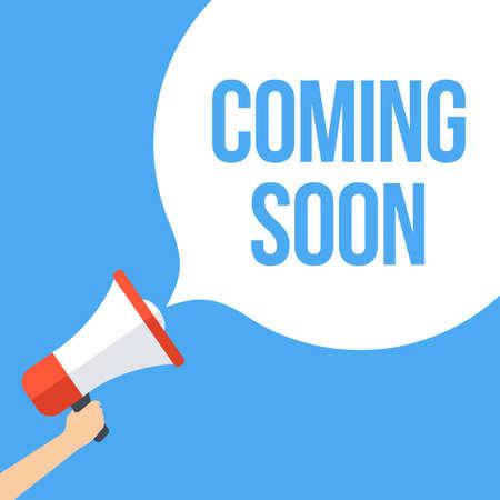 Coming Soon Megaphone Banner