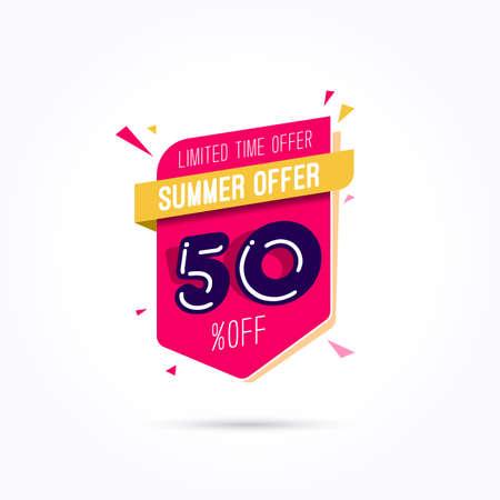 50 off: Summer Offer 50% Off Label