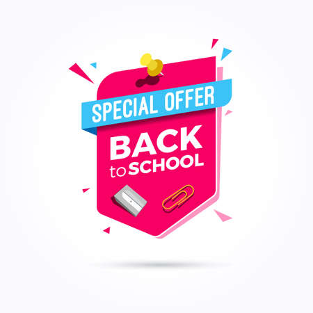 Back to School Special Offer Label Stock Illustratie