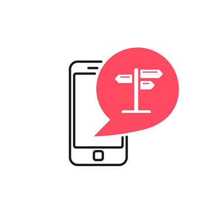wooden post: Phone Signpost Bubble Icon