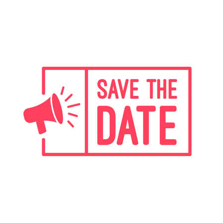 Save The Date Megaphone Labels