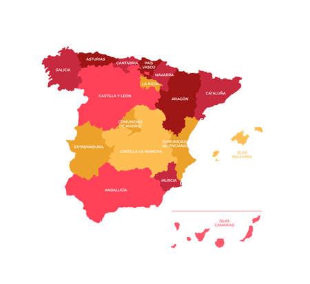 madrid: Spain Regions Map