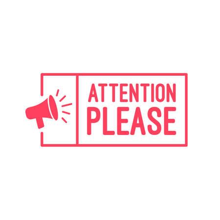 Attention please label.  イラスト・ベクター素材